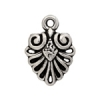 Pendant Metalized Fancy Fan Shape Antique silver